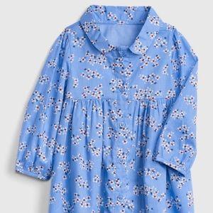 Baby gap floral shirt dress